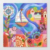 Summer Harbor Canvas Print