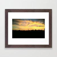 NYC Sunset Skyline  Framed Art Print