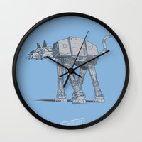 Cat-At Wall Clock