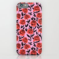 Red Peonies iPhone 6 Slim Case