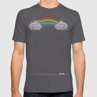Rainbow Invaders Mens Fitted Tee Asphalt SMALL