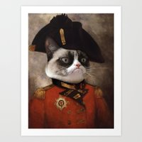 Angry Cat. Grumpy Genera… Art Print