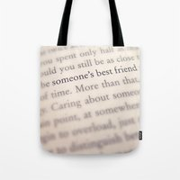 Someone's Best Friend Tote Bag