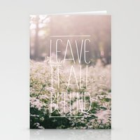 LEAVE IT ALL BEHIND_ Stationery Cards