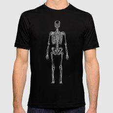 Skeleton Bones Mens Fitted Tee Black SMALL