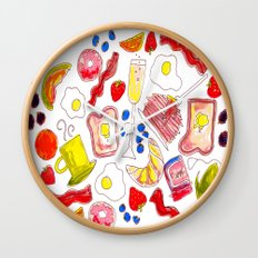 Brunch with me Wall Clock