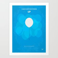 No134 My UP minimal movie poster Art Print