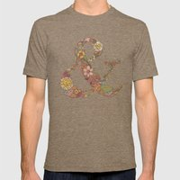 Ampersand Mens Fitted Tee Tri-Coffee SMALL