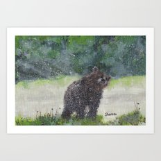 Looking for a cave Art Print