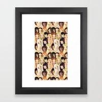 Girlie pattern Framed Art Print