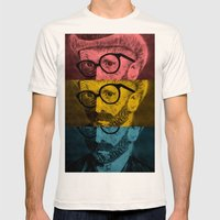 Hipster Van Gogh Mens Fitted Tee Natural SMALL