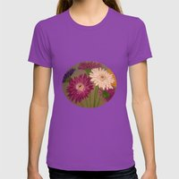 Gerberas Womens Fitted Tee Ultraviolet SMALL