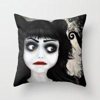 Dear little doll series... EUGENIA Throw Pillow