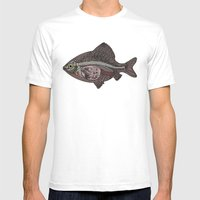 Italian Fish Mens Fitted Tee White SMALL