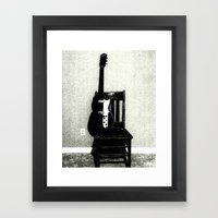 This Chair And Guitar We… Framed Art Print