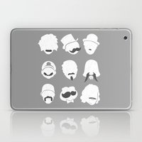 Famous Moustaches Grey Laptop & iPad Skin