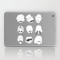 Famous Moustaches grey Laptop & iPad Skin