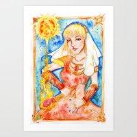 Fire Priestess Art Print