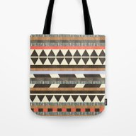 Tote Bag featuring DG Aztec No.1 by Dawn Gardner