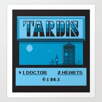 1 Doctor, 2 Hearts Art Print