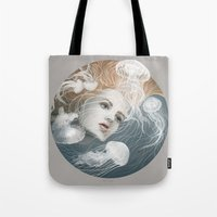 Tote Bag featuring Floating by Ruta13