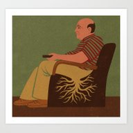 Art Print featuring Root Man by John Holcroft