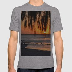 Sun Shine Through Leaves.... Mens Fitted Tee Athletic Grey SMALL