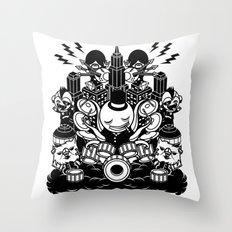 Octopus Drummer 2010 Throw Pillow