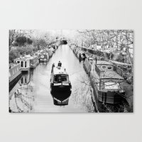 London Canal During Wint… Canvas Print