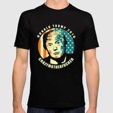 DONALD TRUMP Mens Fitted Tee Black SMALL