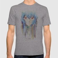 Rei Ayanami from Evangelion Digital Mixed Media Mens Fitted Tee Athletic Grey SMALL