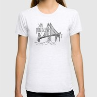 San Francisco Womens Fitted Tee Ash Grey SMALL