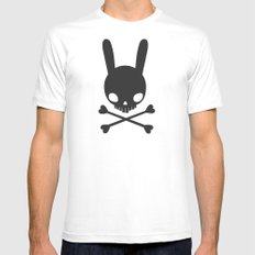 SKULL BUNNY OF PIRATES Mens Fitted Tee White SMALL