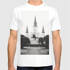 Heart and Soul of New Orleans Mens Fitted Tee SMALL White