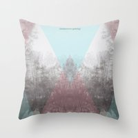 Hilltop Procession (ANAL… Throw Pillow