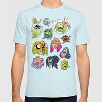 After The Great Mushroom… Mens Fitted Tee Light Blue SMALL