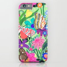 Butterfly and Moths Pattern - Green Slim Case iPhone 6s