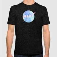 NASA Mens Fitted Tee Tri-Black SMALL