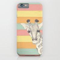 giraffe iPhone & iPod Cases featuring Giraffe by Tammy Kushnir