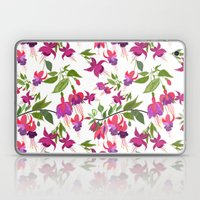 April blooms IV - Fuchsia White Laptop & iPad Skin