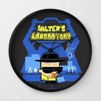 Walter's Laboratory  Wall Clock