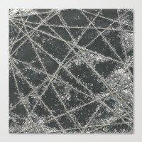 Sparkle Net Black Canvas Print