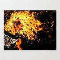 I Am The Fire Starter. Canvas Print