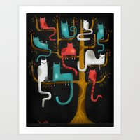 TREE CATS Art Print