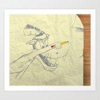 I am the Bad Wolf and I create myself!! Art Print