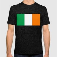 Irish National Flag - Fl… Mens Fitted Tee Tri-Black SMALL