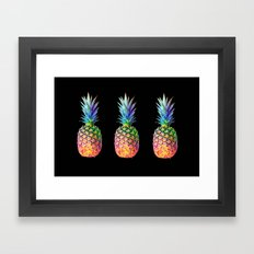 Iridescent Pineapple Framed Art Print