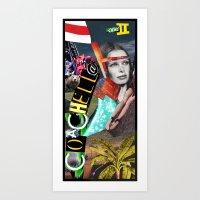 Coachella 2012 Collage Art Print