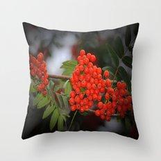 Rote Beeren Throw Pillow