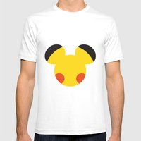 Electric Mouse  Mens Fitted Tee White SMALL